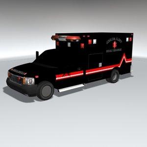 ambulance emergency health 3d max