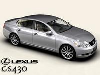 3dsmax lexus gs300 430 interior car
