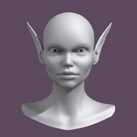 polygonal head 3d model