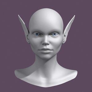 polygonal head 3d model