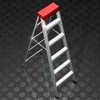 3d a-frame ladder