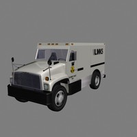brinks armored truck money 3d model