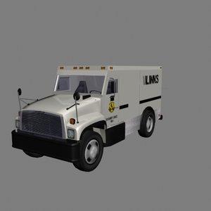 brinks armored truck money 3d model