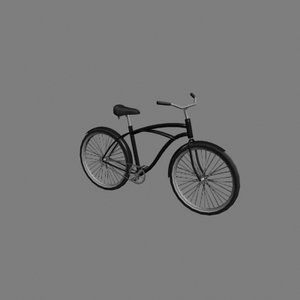 3d model male bicycle