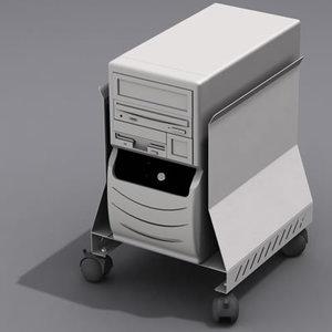 3d computer case holder model