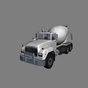 industrial cement truck 3d max