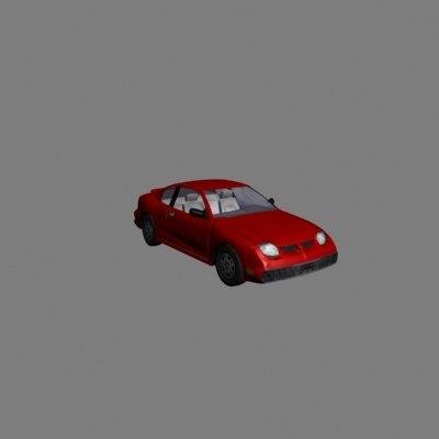 3d model pontiac sunfire car