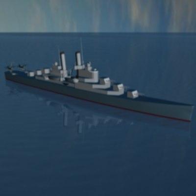 3d cruiser 1939 7500 ton