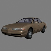 dodge intrigue luxury sedan 3d model