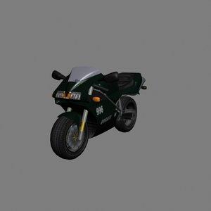 3d ducati race motorcycle