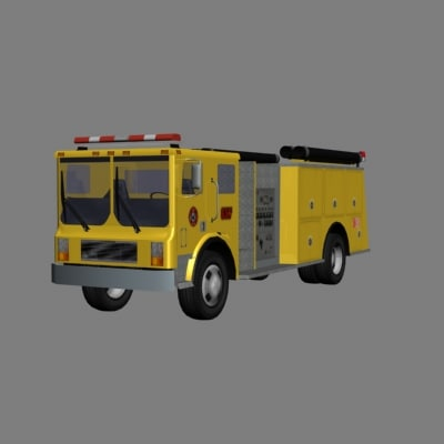 maya firetruck emergency vehicle