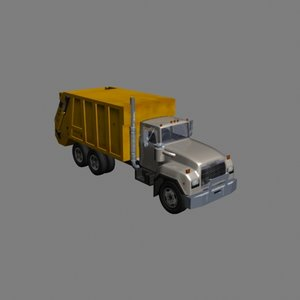 garbage dump truck 3d model