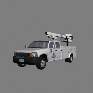 3d utility truck