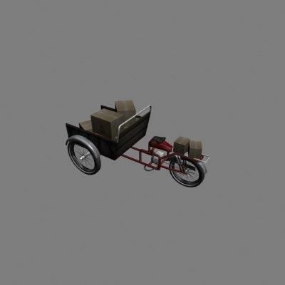 moped trike 3d model