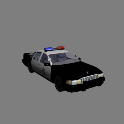3d police cruiser chevy caprice
