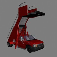3ds max airport stair truck