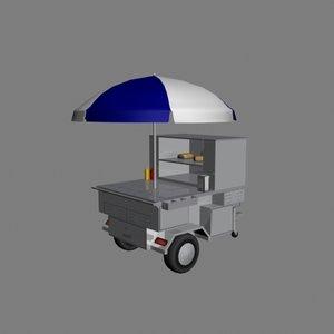 vendor cart 3d model