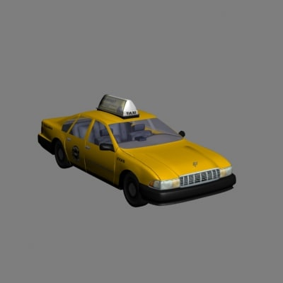 3d chevy caprice taxi model