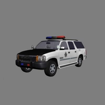 police suv 3d model