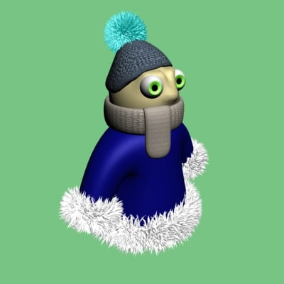 3d snow tuzik boy model