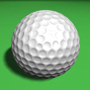golf ball golfball 3d model