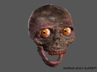3ds max skull zombie