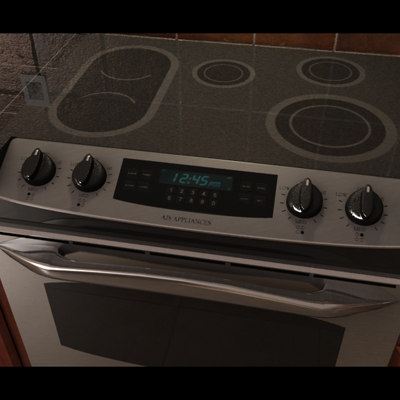 3d lwo stainless steel stove