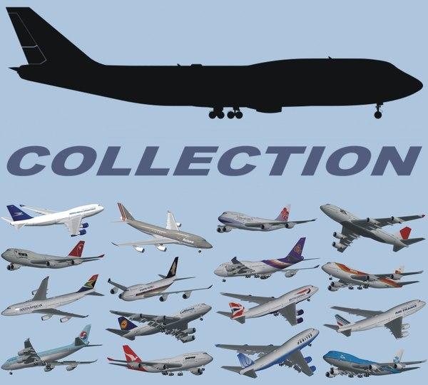 b 747-400 3d 3ds
