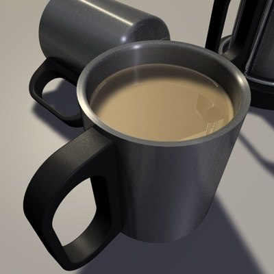 coffee mug tea cup 3d model
