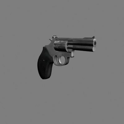 357 magnum hand gun 3d model
