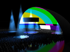 stage event production 3d model