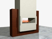 3d contemporary fireplace
