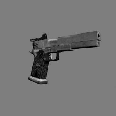 colt infinity gun 3d model