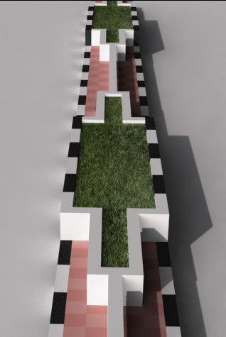 3d road diveder model