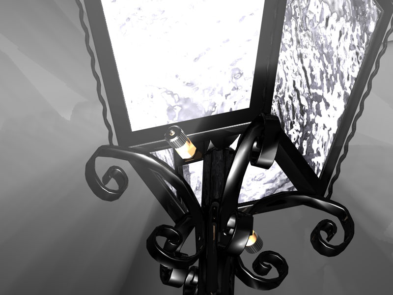 3d project iron lantern whith model