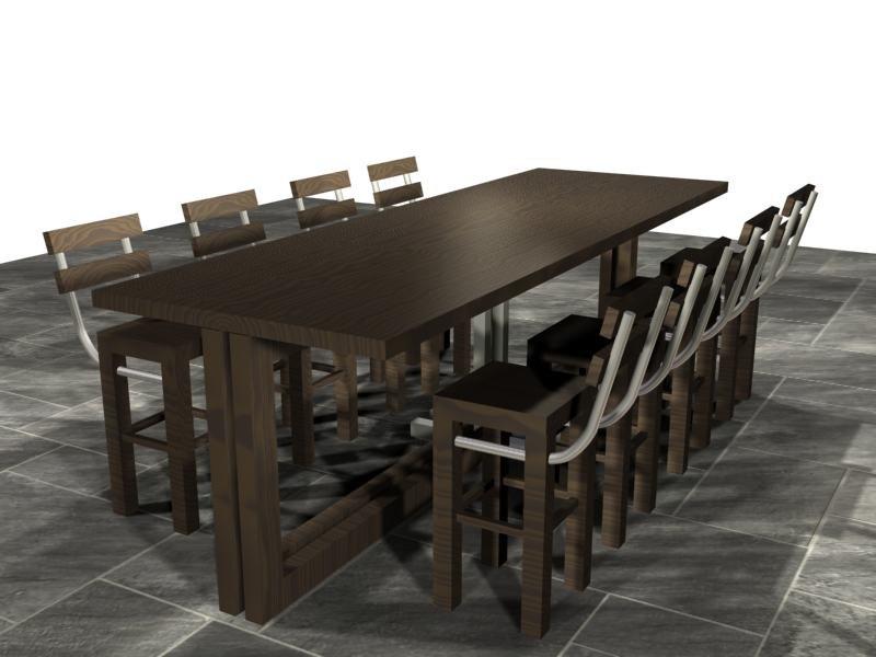 c1ebc76172 3d stylish table chairs boardroom model
