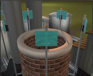 cinema4d project filtering sytem chimney