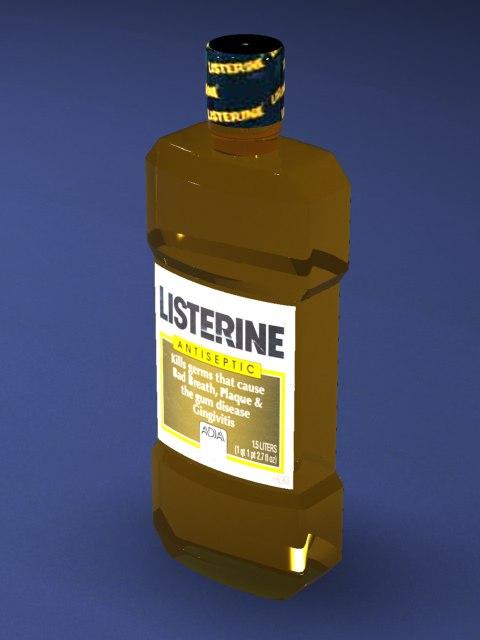 3d model listerine bottle