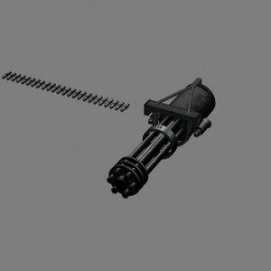 mini gun 3d max