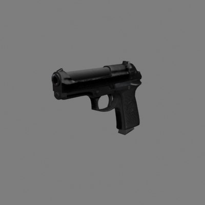 3ds max beretta pistol