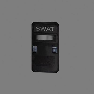 3d swat shield model
