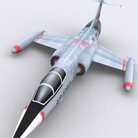 modern military aircraft 3d model