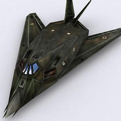 modern military aircraft f117 3d model