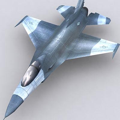 modern military aircraft f16 3d model