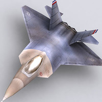 modern military aircraft f22 3d model