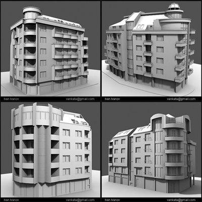buildings colection architecture 3ds