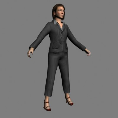 3d generic woman model