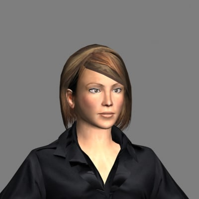 3ds max generic woman