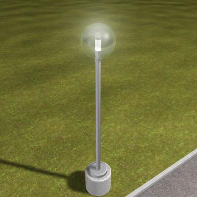 3ds max light modern lamp post