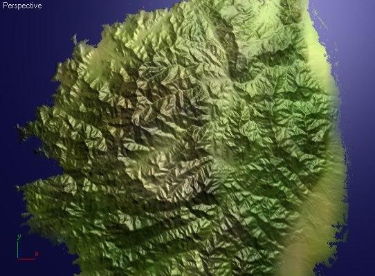 corsica island height max